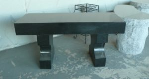 3 Foot Jet Black Flat Bench