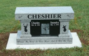 3 Foot Super Gray Cremation Bench Double