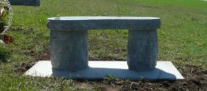 3 Foot Super Gray Flintsone Bench Side View