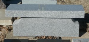 4 Foot Super Gray Flat bench with Bell Pedestal