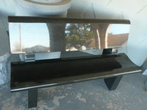 4 Foot Jet Black Park Bench