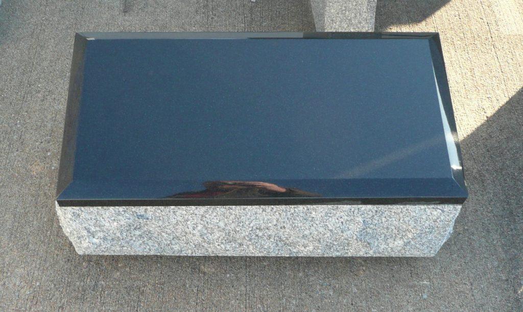 2 Foot Super Gray Single Cremation Marker