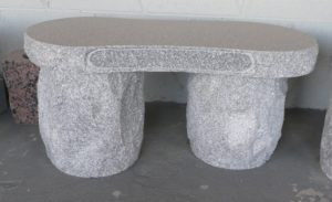 3 Foot Super Gray Double Flintstone Bench