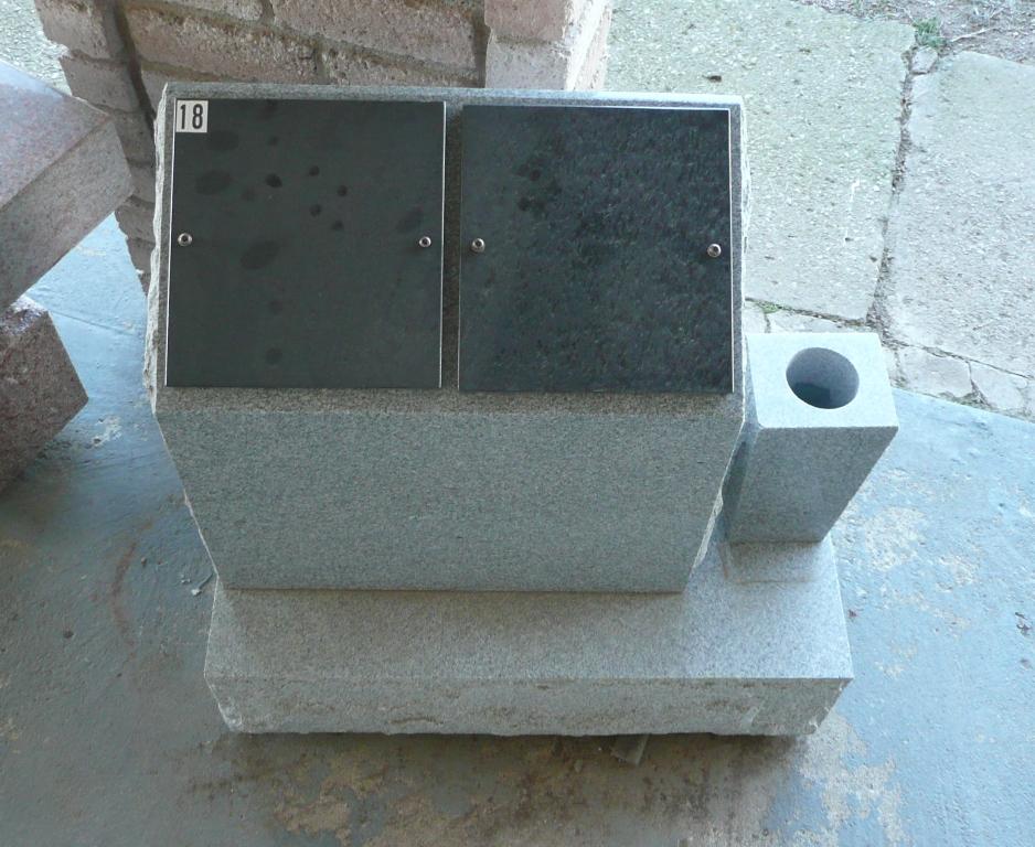 Super Gray Double Cremation Column