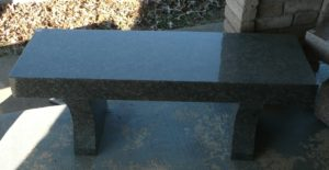 4 Foot Chestnut Flat Bench with Curved Legs